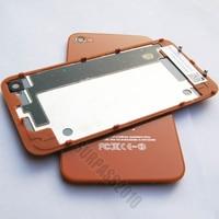 лучшее качество задняя крышка корпуса для оранжевый для iPhone 4 4 г стекло ассамблея + + с бесплатная доставка
