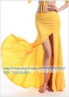 дамы танец живота танец живота с одной стороны юбка с разрезом с бисером желтый женщин сексуальный костюм одного размера бесплатная доставка