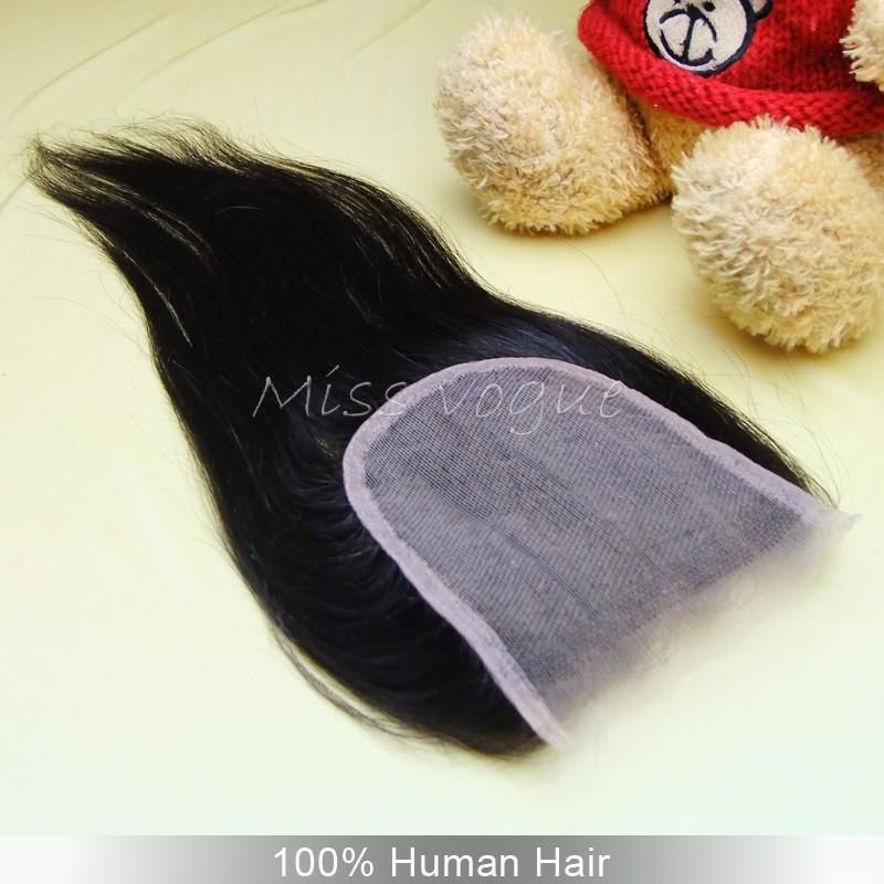 """бразильские волосы 4 """"х 4"""" 3 часть шелковистая прямая кружева закрытие с отбеленные узлы человеческих закрытие волос дешево части волос"""