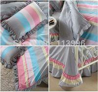 современная модель полоса серый постельного белья королева или король комплект 4 шт. одеяла покрывала кровать в сумке