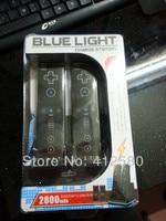 бесплатная доставка + лучшее предложение для синий свет станции зарядки для Wii и включают 2 шт. Мак 2800 аккумулятор аккумулятор док-станция зарядное устройство пост
