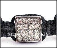 нью-шамбалы браслеты микро-проложить дискотечный шар бусины площадь кожа шамбалы браслет, мода шамбалы ювелирные изделия оптовая продажа и розничная