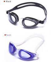 силикон черный большой рама пк линзы водонепроницаемый анти-туман плавание очки профессиональный для wamen