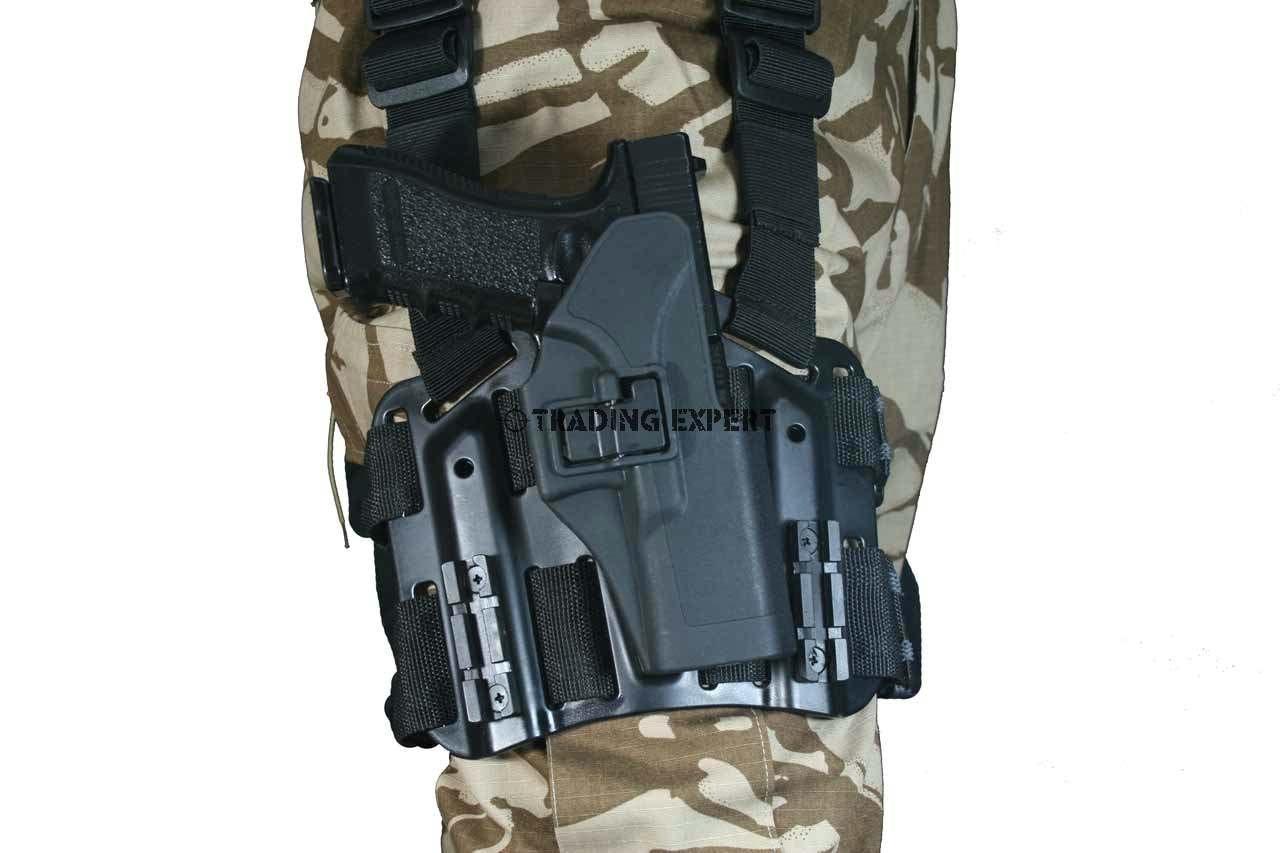 Black Hawk CQC for Glock 17 Holster Black Platform Set RH free ship