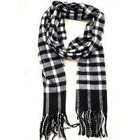 бесплатная доставка женщин мужские мода классический теплый с хлопок черный и белый зима осень кисти сетки ned шарф оптовая продажа 80008