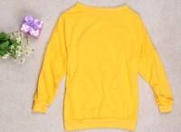 бесплатная доставка милые маленькие клыки маленький дьявол смайлик женская футболка 2 цветов p008