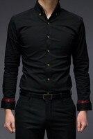 бесплатная доставка мода мужчины рубашка тонкий подходят повседневная одежда полный рукав конструктор мужчин осень зима бренд одежды