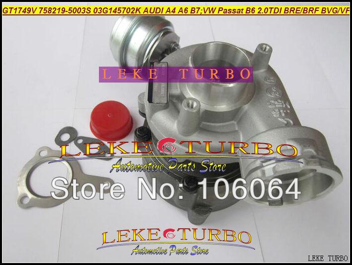 GT1749V 758219-5003S 758219 03G145702K Turbo Turbocharger For AUDI A4 B7 VW Volkswagen Passat B6 2.0L TDI 2004- BRE BRF BVG BVF 140HP (5)