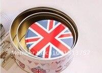 бесплатная доставка! продвижение англии стиль круглый металлический корпус 3 шт./компл. хранения железный ящик контейнер олова случае коробка конфет торт случае