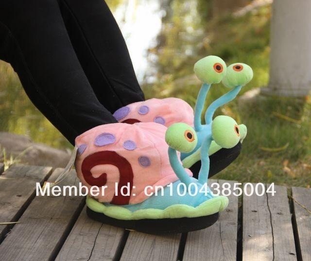 la migliore vendita prezzo più basso bellezza SpongeBob snail home slippers-in Pantofole da Scarpe su AliExpress