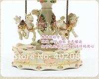 шкатулка музыкальная карусель, ВСС, кружение, карусель, рождество / день рождения / день святого валентина подарок замечательный подарок бесплатная доставка