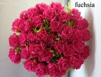 бесплатная доставка высокое искусственного шелка цветок 36 шт. роза невесты с цветами в руках