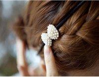минимальный. 15 долларов США продвижение жемчуг кристалл девушки резинка для волос аксессуар корейский мода повязка на голову ювелирные изделия бесплатная доставка
