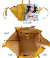 15 $ 150 женщины в натуральная кожа ремень кисточки улыбка летучие мыши дизайнер сумочка плечо сумка-q301