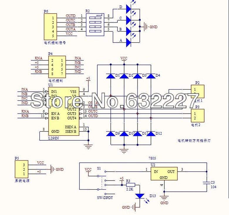 Original chip L298N treiberplatine/, DC stick L298 in Original chip ...