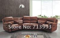 угловой кресло диван / функциональная диван с подстаканником / кожаный диван