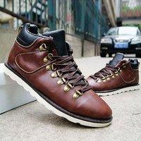 бесплатная доставка мужская мода свободного покроя одежда роман кожаные ботинки ботинки красный 39 40 41 42 43 44