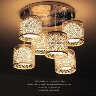 Moderne Glas Und Handgemachte Eisen Decken Schlafzimmer Lampe Mit ... Schlafzimmer Lampen Decke