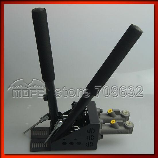 0.75 inch Dual Twin Double Master Cylinders Handles Lockable Vertical Drift Rally Handbrake Hand Brake Hydraulic E-brake DSC_0837