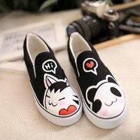 влюблённые вручную - окрашенный обувь каракули брезент обувь женское педаль обувь ленивый вилочная часть обувь персонализированные