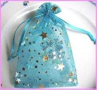 9 * 7 см красивая, звезды пряжа сумки конфеты / свадьба поставки / органзы / ювелирных изделий / упаковочный пакет