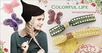 оптовая продажа - высокое качество сельский стиль ткань кнопки захваты корейски волосы захваты аксессуары для волос 4 шт. / комплект бесплатная доставка