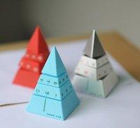 бесплатная доставка творческий черный пирамида творческое начало настольные часы таймер кубик рубика много цветов