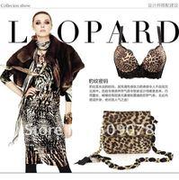2011 бесплатная доставка сексуальное леопард нижнее белье бюстгальтер женское белье