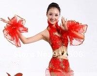 современный танец костюм танец костюм национальный костюм yangko одежда красный сценические костюмы