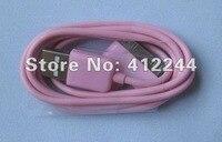 новое 500 шт. бесплатная доставка красочные USB кабель кабель для передачи данных для iPod для iPad для для iPhone 3 г и 3GS 4 г
