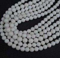 оптовая продажа, 400 шт./лот, белый камень круглый мяч, широкий полудрагоценных камней бусины, размер : 8 мм, бесплатная доставка