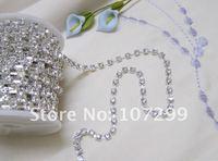 10yd 4 мм-класс горный хрусталь серебро Diamante в сеть ремесло подарочная упаковка