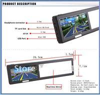бесплатная доставка 4.3 дюймов GPS с Bluetooth навигатор для зеркало заднего вида. оптовая продажа