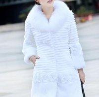 ЭМС бесплатная доставка ] дамы мода кролика расти куртка / шуба с лиса меховой воротник 5 цвет