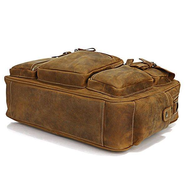 e1e01d78a1ac ... Men s Brown Business Briefcase Laptop Bag Dispatch Shoulder Huge 16.5
