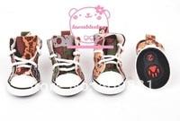 супер мода собака холст домашних животных обувают 2 цвет 5 размер обувь опт/розница товары для собак заказ смешивания