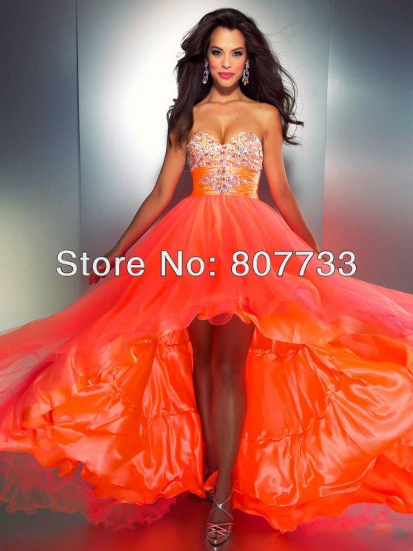 CW281 Free shipping Wonderful orange sweetheart beaded rhinestones ...