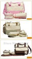 бесплатная доставка 5 шт. водонепроницаемый микрофибры синий, розовый Pale мешок мать сумка + Plane + date + обед сумка + детская сумка