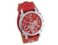 кожа ремень мужчины мальчиков часы большой квадратный циферблат до запястья часы