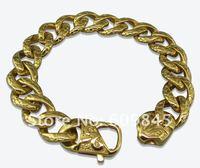 новый arriavl тяжелая мода мужские из нержавеющей стали браслеты браслеты 22 см золотые украшения mc05 бесплатная доставка
