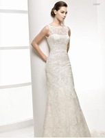 бесплатная доставка тонкий высокое ожерелье русалка свадебное платье свадебное платье размер на