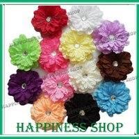65 шт./лот laden малыша девочка клипы лилия цветы для волос вязка крючком повязка на голову 13 цветов для выбора