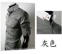 горячая распродажа бренд мужские рубашки мужская уникальный дизайн декольте свободного покроя классический мужской рубашки 3 цветов м-XXL