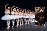 новый милый 3D и девушки балет шикарный кристалл Alma чехол для iPhone 4 и 4S бесплатная доставка в розницу ip5099 ж / жк-экран протектор