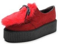 оптовая продажа, горячая распродажа узелок клин платформа # 218 мех кролика женщин / женская обувь, сша 5 - 8.5