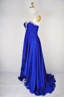 Королев синий милая радуют beer стрейч атлас линии привет-ло длиной до пола, вечернее платье
