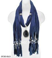 бесплатная доставка оптовая продажа ювелирных изделий шарф-кисточки твердые шарфы с кулон подвески мода для женщин / sf263