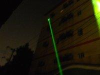 500 мвт зеленый лазер указка / ручка-серебро / водитель ручка / сила власти может облучением 5000 - 10000 м