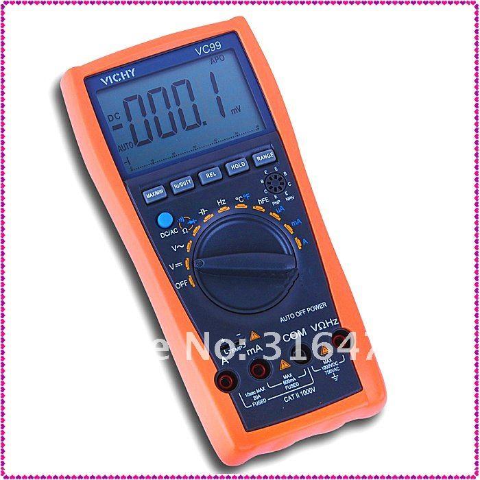 Vichy Vc99 3 67 Multimeter Analog Bar C F Better Fluke 17b 6999
