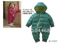 бесплатная доставка новорожденных девочек мальчиков одежда детские трико осень и зима толстые новорожденного ползунки комбинезон ватные куртка